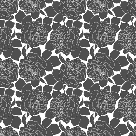 copied: Abstract floral hand-drawn seamless pattern. Vector floral illustration can be copied without any seams. Illustration