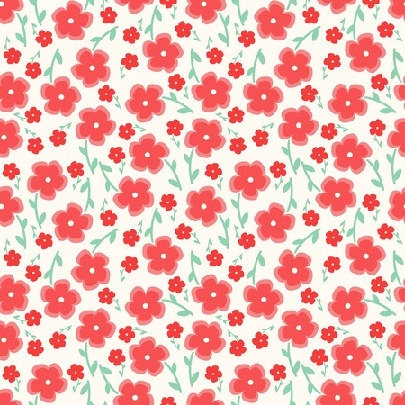 copied: Simple and beauty flower seamless pattern. Vector illustration good for textile and paper wrapping print.Can be copied without any seams. Abstract floral background. Spring and summer flowers in pink. Illustration
