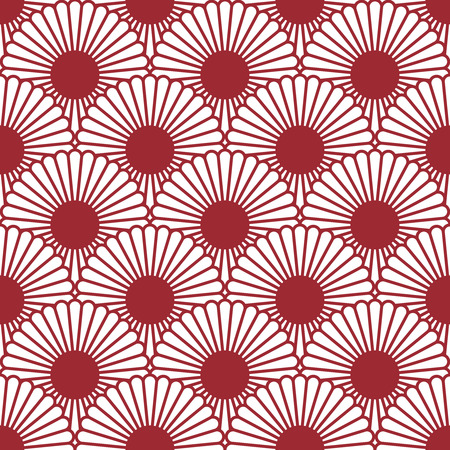 copied: Simple Japanese style chrysanthemum seamless pattern. Traditional flower.Background can be copied without any seams.Vector endless texture can be used for printing onto fabric and paper. Illustration
