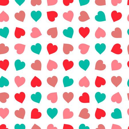 Corazones patrón transparente en tonos pastel. conjunto corazón dibujado a mano, bueno para la impresión textil y de papel, tarjeta, cartel, otro diseño. lindo ilustración vectorial Día de San Valentín, fácil de cambiar el color