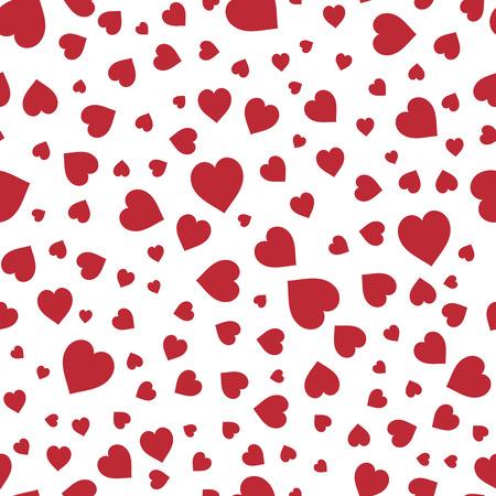 Corazones rojos sin patrón. Bueno para la impresión textil y de papel, tarjeta, cartel, otro diseño. lindo ilustración vectorial Día de San Valentín. Canción de amor.