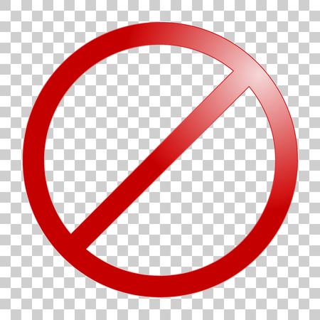 Stop-Schild. Kein Zeichen-Vorlage. Vector realistische Darstellung. Vektorgrafik