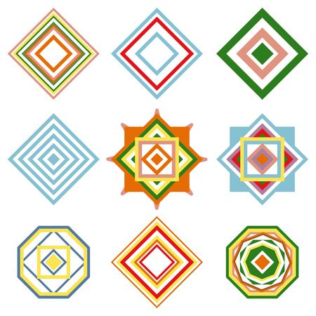 oriental vector: Set of mandalas. Vector ethnic oriental geometric ornament. Traditional style illustration.