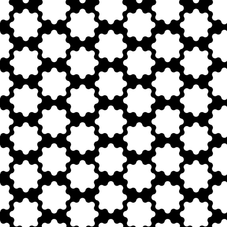 Vector seamless pattern. Modern stylish texture with monochrome shapes. Repeating geometric grid. Simple graphic design. Trendy hipster sacred geometry