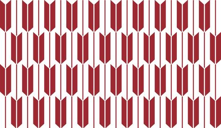 Red and white seamless design. Traditional japanese arrows pattern. Yabaneyagasuri vector illustration