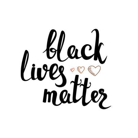 Black Lives Matter. Vector lettering design element 向量圖像
