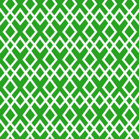 Simple retro Christmas seamless pattern. Traditional green and white color background. Vector illustration. Winter endless texture can be copied without any seams 向量圖像