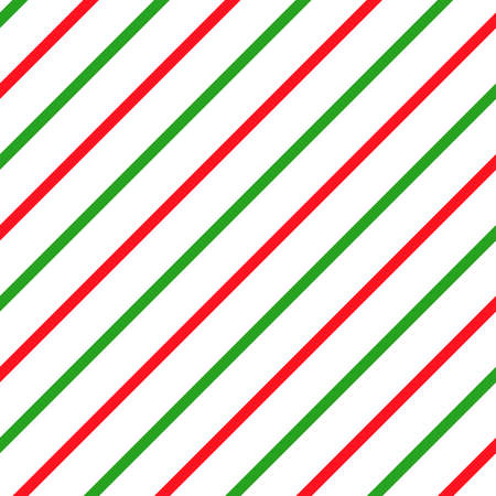 Simple retro Christmas seamless pattern. Traditional red and green colors background. Vector illustration. Winter endless texture can be copied without any seams