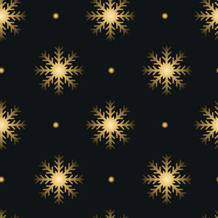 Vector gold glitter snowflakes background effect for luxury greeting rich card. Sparkling texture with glowing lights. Star dust sparks