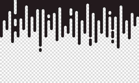 Modern style abstraction with composition made of various rounded shapes in black color on transparent background. Vector illustration. 向量圖像