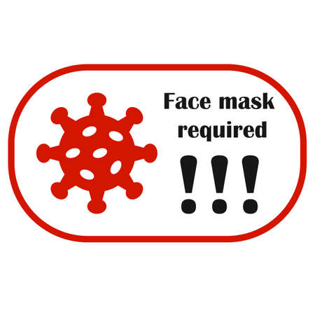 No entry without face mask banner. Mask required icon. Vector illustration. Covid. Corona virus.