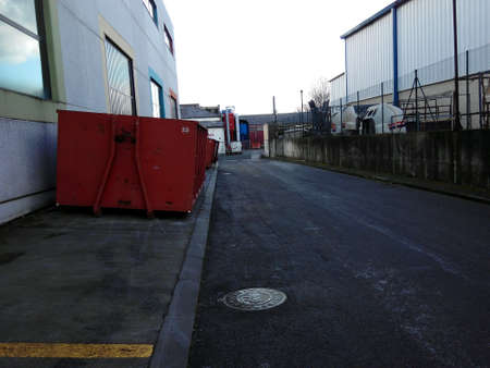 industrial: Container in industrial area Stock Photo