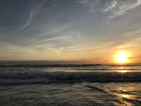 Sunset in Punta Mita, Nayarit, Mexico with the ocean and sky