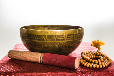 tibetan bowl Stock Photo - 25478828