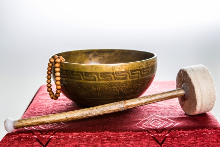 tibetan bowl Stock Photo - 25478834