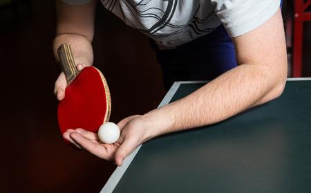 ping pong: servicio de tenis de mesa Foto de archivo