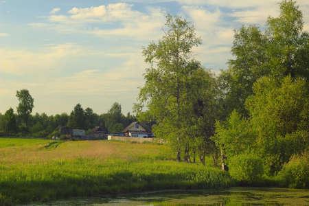 rural lake in May