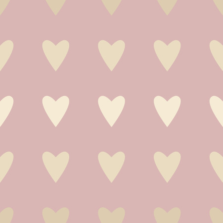 Seamless pattern with hearts. Background for Valentines day. Vector illustration. Standard-Bild