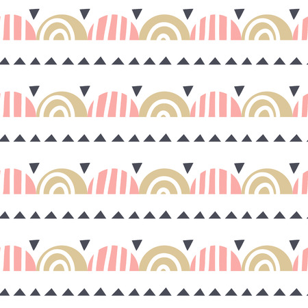 Abstract geometric seamless pattern in scandinavian style. Ilustrace