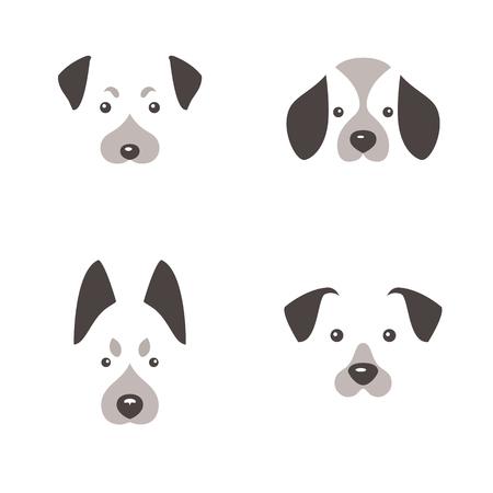 Dog logo. Dog icon set. Vector illustration.