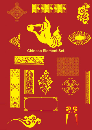 Chinese Vector Elements Vector