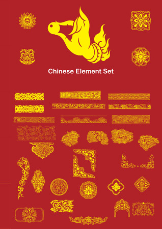 Chinese Vector Elements Stock Vector - 32781693