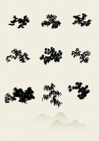 korean culture: Traditional Chinese Painting illustration