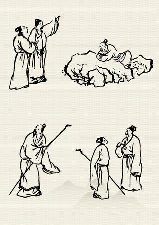 Traditionelle chinesische Malerei Standard-Bild - 32850066