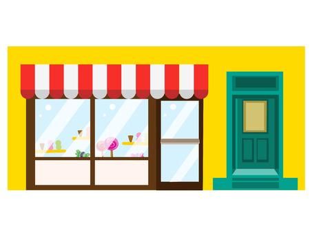 sweet shop: Tienda de dulces Vectores