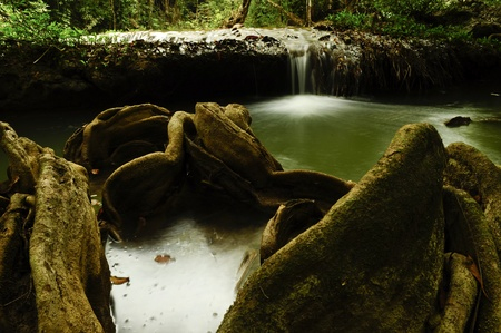 beautiful waterfall at Palata waterfall, Tak, Thailand photo
