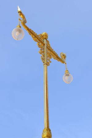 Gold street lamp Stock Photo - 8704077
