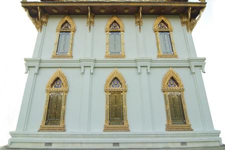 gold buddhist monastery window at Sanamchan Palace, Nakhon Pathom,Thailand photo