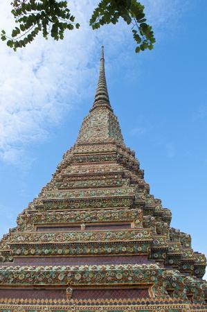 ancient pagoda at Wat  Phra Chetuphon Vimolmangklararm,Wat Pho,Bangkok,Thailand Stock Photo - 8704143