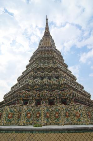 ancient pagoda at Wat  Phra Chetuphon Vimolmangklararm,Wat Pho,Bangkok,Thailand Stock Photo - 8704126