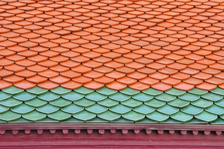 two color roof tiles pattern photo
