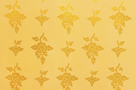 Golden flower background, texture photo