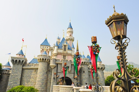 disney: Disney Land, Hongkong - November 19,2010 -  Castle of Disney Land Editorial