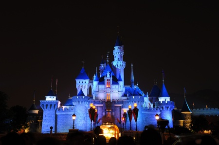 disney: Disney Land, Hongkong - November 19,2010 -  Disney Castle