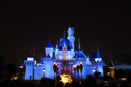 Disney Land, Hongkong - November 19,2010 -  Disney Castle