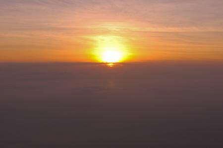 fog with sunrise , Phu Tub Berg, Petchaboon, Thailand Stock Photo - 9028468