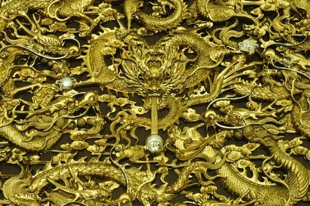 Gold Dragon Texture Stock Photo