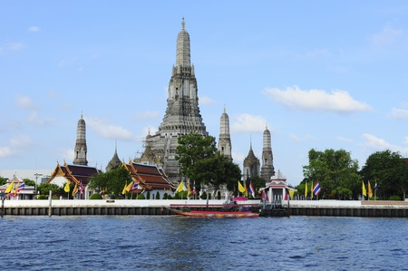 bangkok temple: Wat Arun, Chao Phraya River, Bangkok, Thailand Stock Photo
