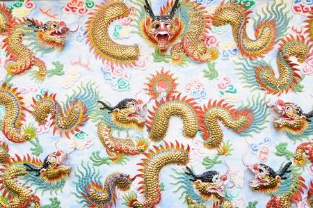 Chinese dragons background photo