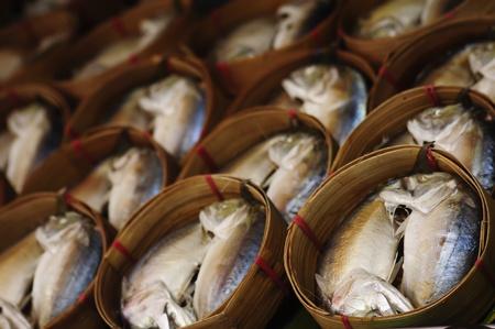Thai Mackerel in basket Stock Photo - 9740455