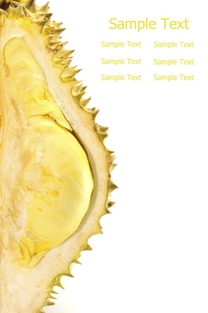 Durian, the king of fruit of South East Asia isolated on white background photo