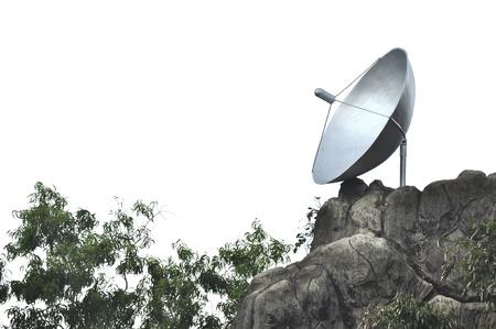 Satellite dish on the mountain photo