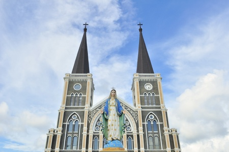 The cathedral of the immaculate conception, Chanthaburi, Thailan photo