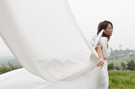angel flying: A beautiful angel flying girl, Fairy woman
