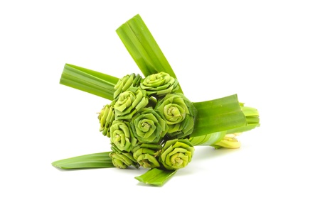 Fresh banana leaf weave to rose bouquet Stock Photo - 10131015