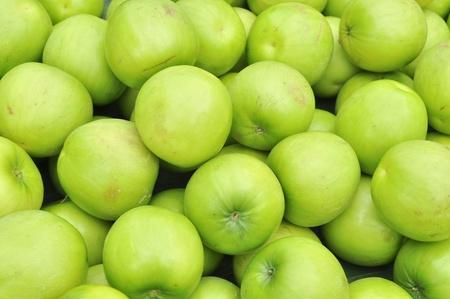 Green apples stock